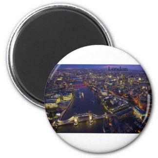 London nachts (durch St.K) Runder Magnet 5,7 Cm