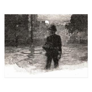 London-Polizist nachts Postkarte