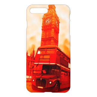 London-rotes Bus u. Big Ben iPhone 7 Plusfall iPhone 8 Plus/7 Plus Hülle