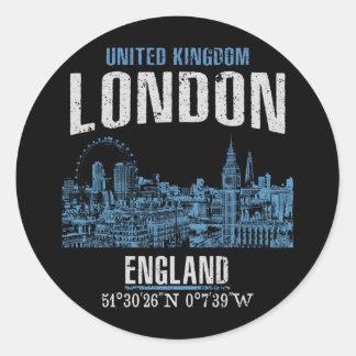 London Runder Aufkleber
