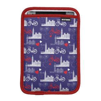London-Sehenswürdigkeit-Muster iPad Mini Sleeve