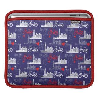 London-Sehenswürdigkeit-Muster iPad Sleeve