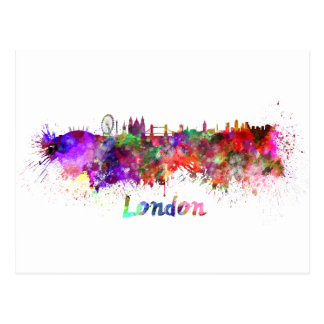 London skyline im Watercolor Postkarte