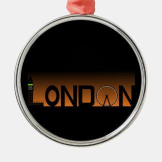 London-Skyline Silbernes Ornament