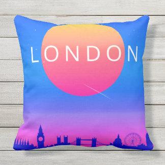 London-Skyline-Sonnenuntergang-Reise-Plakat Kissen