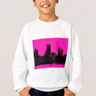 London-Skylinerosa - digital geändert Sweatshirt