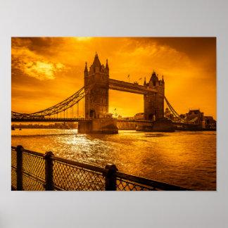 London-Sonnenuntergang Poster