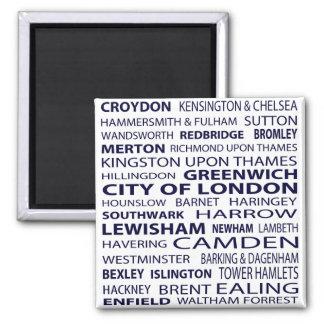 London-Stadt-Magnet (weiß) Magnete