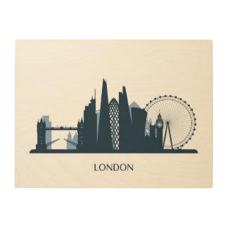 London-Stadt-Skyline Holzdruck