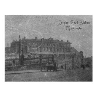 London-Straßen-Station, Manchester, c.1910 Postkarte