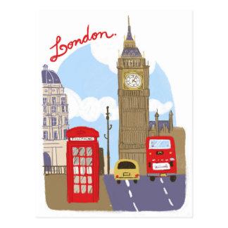 London-Szene Postkarte