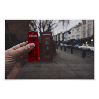 London Telefone Box Poster