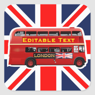 London themenorientiert quadratischer aufkleber