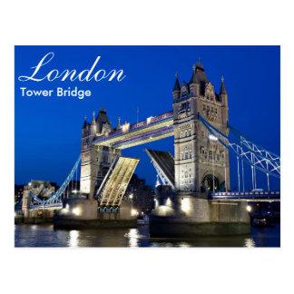 London - Turm-Brücke an der Nachtpostkarte Postkarten