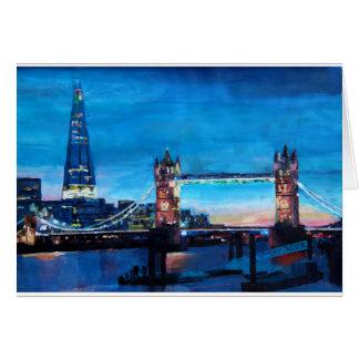 London-Turm-Brücke mit der Scherbe Karte