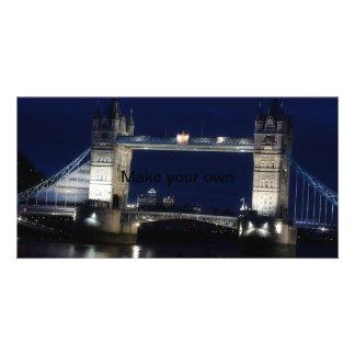 London, Turm-Brücke nachts Photokartenvorlagen