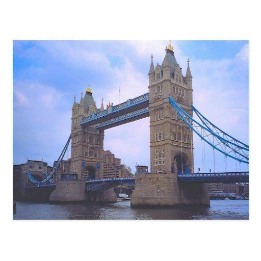London, Turm-Brücke und die Themse Postkarte