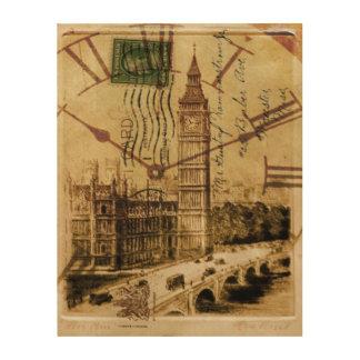 London-Turmbrücke clocktower Big Ben Holzleinwand
