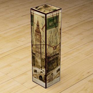 London-Turmbrücke clocktower Big Ben Wein-Geschenkverpackung