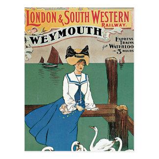 London u. südwestliches ~ Weymouth Postkarte