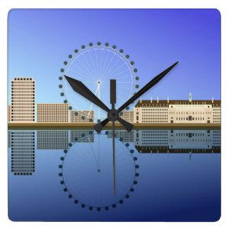 London-Uhren Quadratische Wanduhr