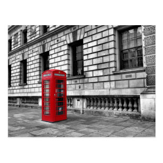 London-Westminster rote Telefon-Kasten-Postkarte Postkarte
