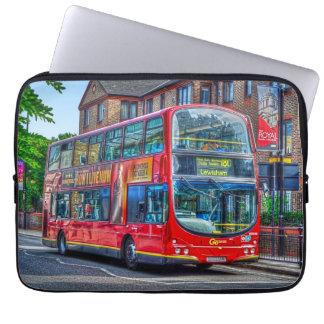 London zu Lewisham rotem doppelstöckigem Bus Laptop Sleeve