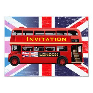 Londons berühmter roter Bus 12,7 X 17,8 Cm Einladungskarte