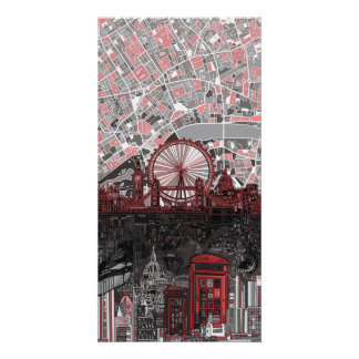 Londonskyline abstrakt bilder karten