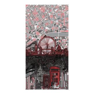 Londonskyline abstrakt individuelle foto karte