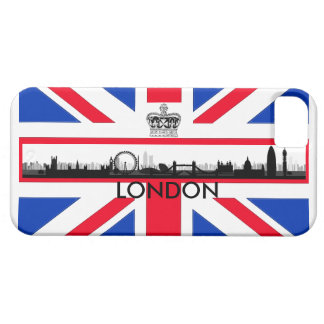 Londonskyline-Gewerkschafts-Jack-Flagge iPhone Barely There iPhone 5 Hülle