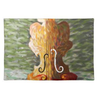 Lonessia V1 - Violinenschönheit Stofftischset