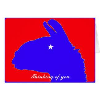 Lonestar Lama von Texas mit Stern-Auge Karte
