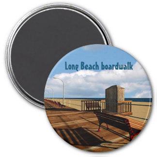 Long Beach boardwalk Runder Magnet 7,6 Cm