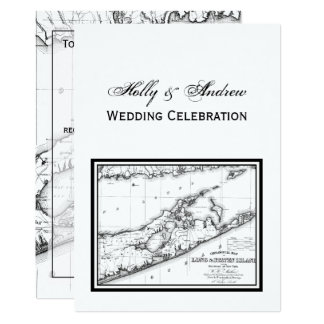Long Island das Wedding Schwarze Hamptons Karte