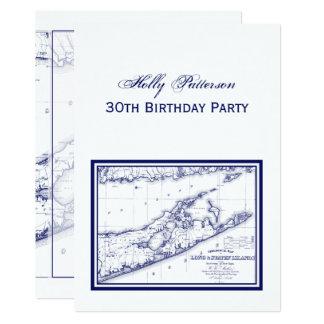 Long Island die Hamptons Karte VC