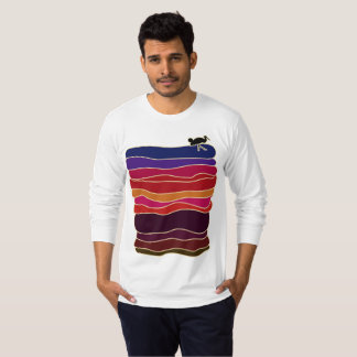 Long sleeve T shirt with sunset design