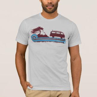 """Longboarder"" Retro Brandungs-T-Stück im T-Shirt"