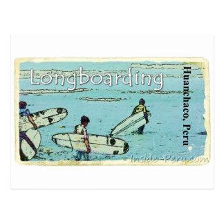 Longboarding Huanchaco Peru Surfen Postkarte