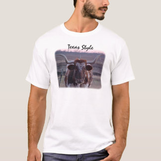 Longhorn, Texas-Art T-Shirt