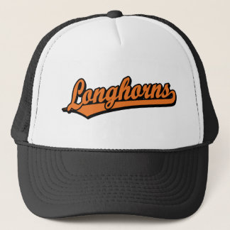 Longhornsskriptlogo in der Orange Truckerkappe
