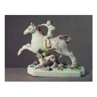 Longton Hall Zahl des Amors ein Pferd reiten Postkarte