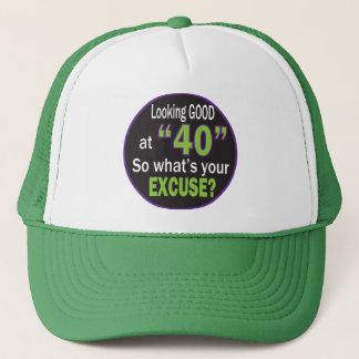 Lookin gut bei vierzig | 40. Geburtstag Truckerkappe