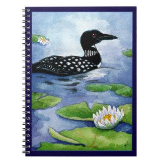 Loon, Nordsee, Hüttenwild lebende tiere Notizbuch Spiral Notizblock