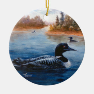 Loon See-Verzierung Keramik Ornament