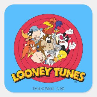 Looney Melodien-Charakter-Logo Quadrat-Aufkleber