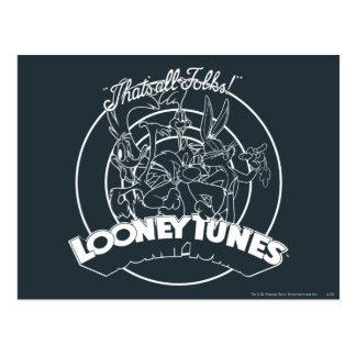 Looney Melodien, das alle Völker ist Postkarte