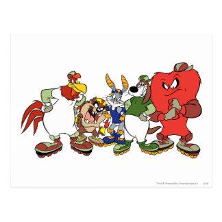 Looney Melodien-Gruppen-Baseball-Bild Postkarten