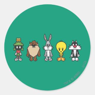 Looney Melodien-Gruppen-Foto OP Runder Sticker