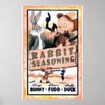Looney Melodien-Kaninchen-Gewürz Plakate
